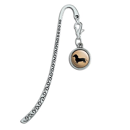 Dachshund Wiener Dog Metal Bookmark Page Marker with Charm