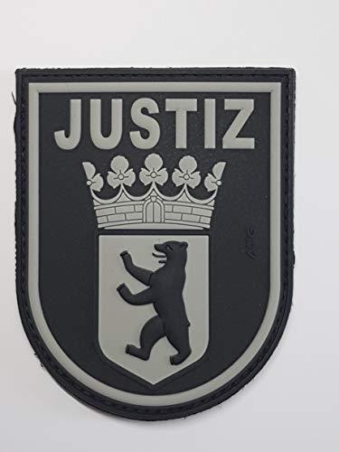 ATG Ärmelabzeichen JUSTIZ Berlin 3 D Rubber Patch (BlackOps)