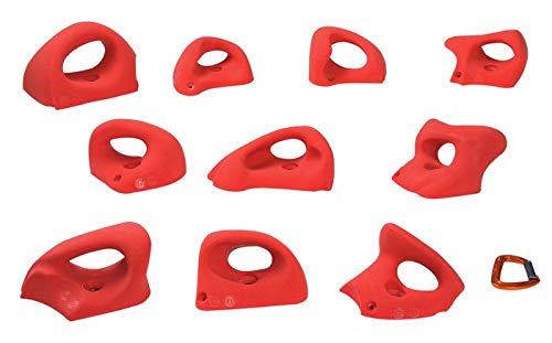 Entre Prises Klettergriffe Essential Jugs XL (ehemals Grab It II), Farbe:rot