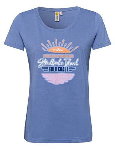ROADSIGN Australia T-Shirt mit sommerlichem Print, Rundhals, blau|XXL