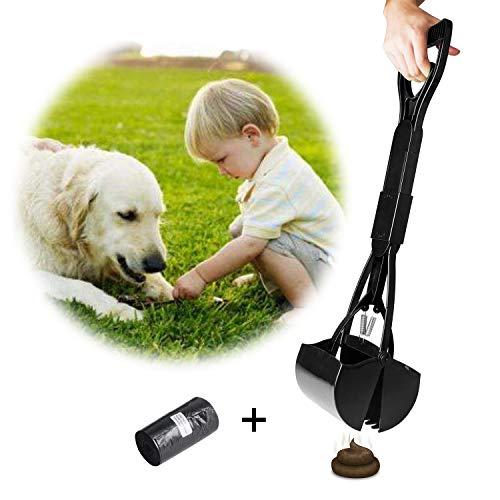Lange Pooper Scoopers Faltbare 23 Zoll lange One Hand Verwendung Hundeschaufel Scoop mit Müllsäcke Entfernung Pet Jaw Scoop Design