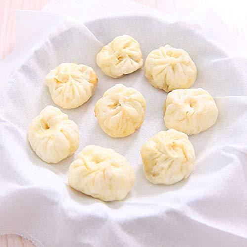 MoonyLI Küche Dampftuch Dampfer-Gaze-wiederverwendbares Mehlkloß-Auflage-Baumwolltuch Mehlkloß Auflage Dumpling Steamer Mat Quadrat 32 * 32 cm(Weiß) 5Pcs