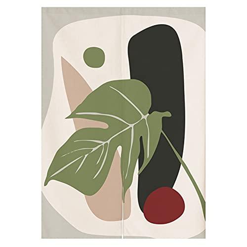 ZWJHNN Abstrakte Dekoration Noren Japanische Vorhänge Baumwolle Leinen Tür Tapisserie Vorhang Tür Vorhang (Color : 1 Abstract, Size : 27.5x47.3in)