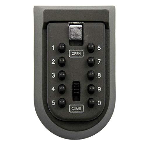 Caja de llave segura con código – Interior y exterior – 10 combinaciones – en zinc y aluminio – 10,7 x 6,5 cm