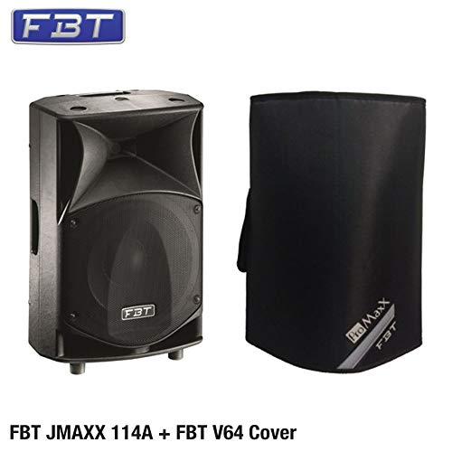 FBT J MAXX 114A + FBT V64 - 2-Wege-Monitor-Lautsprecher 1400/400 W peak LF/HF, Schwarz + Cover FBT V64, Schwarz
