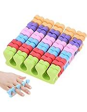 MWOOT 6 Pares Separador para Dedos de los Pies,Espuma suave Esponja Separadores del dedo Divisor Manicura Pedicura Herramientas para Gel Polaco Revestimiento Pintura