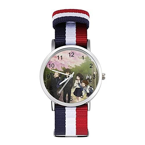 氷菓 腕時計 人気 時計セット うで時計 カップル時計 薄い 軽い ナイロンベルト 防水時計 シンプルウオッチ サプライズ プレゼント ユニセックス 腕時計 記念日 プレゼント