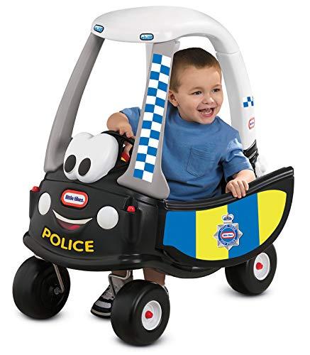 Little Tikes Auto Cozy Coupe Patrulla de Policía - Para Montarse, con Bocina que Funciona, Interruptor de Encendido y Tapa de Combustible