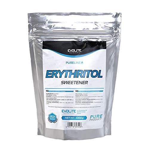 Evolite Nutrition - 100% Naturale Eritritolo 1kg - Dolcificante Sostituto Dello Senza Zucchero - Senza Glutine - Zero Calorie - Un'alternativa Dolci