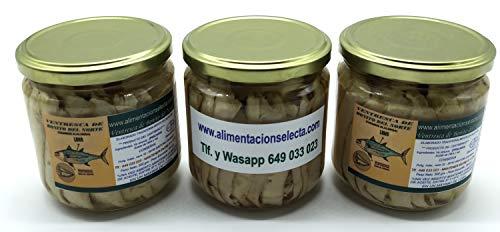 Ventresca de Bonito del Norte Gourmet en Aceite de Oliva elaborado en Santoña Pack Especial Ahorro Bonito capturado uno a uno a caña en el Mar Cantábrico
