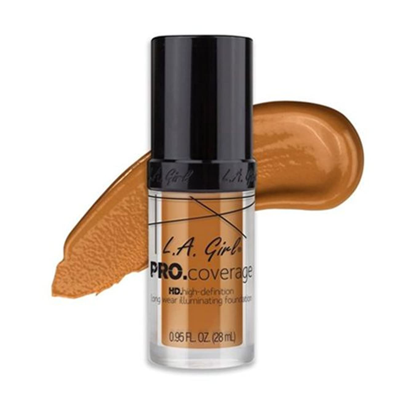 宿命クリック失態(3 Pack) L.A. Girl Pro Coverage Illuminating Foundation - Bronze (並行輸入品)