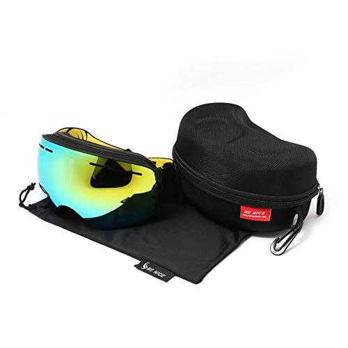 N\A Gafas de esquí para deportes al aire libre, snowboard, motonieve con imán que cambia la lente rápida protección UV400 antivaho, gafas esféricas sin marco (color: adulto nieve 3101)