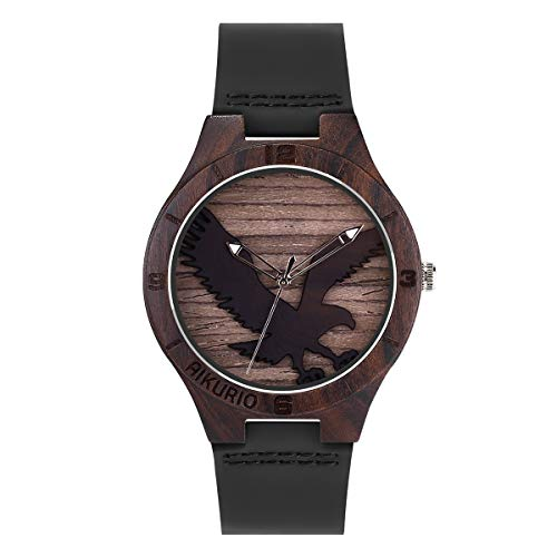 AIKURIO AKR011 - Reloj de pulsera de madera para hombre