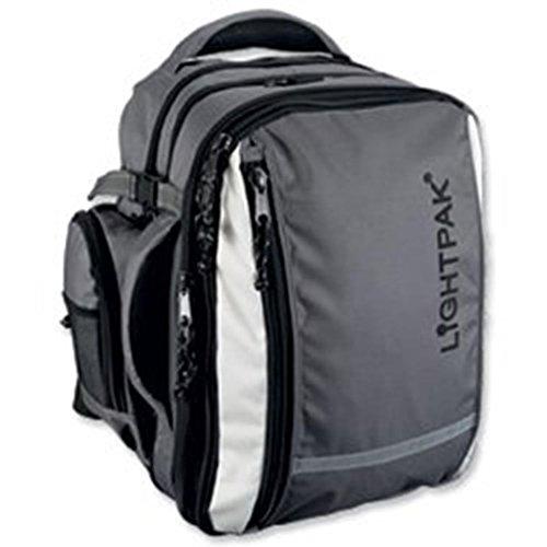 Juscha Lightpak 46077 Vantage Rucksack mit abnehmbarer Laptoptasche, Nylon, Kapazität 43,2 cm, Grau