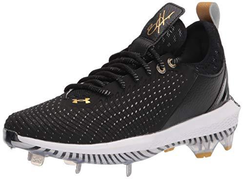 Under Armour Men's Harper 5 Low ST Baseball Shoe, Black (002)/Black, 10