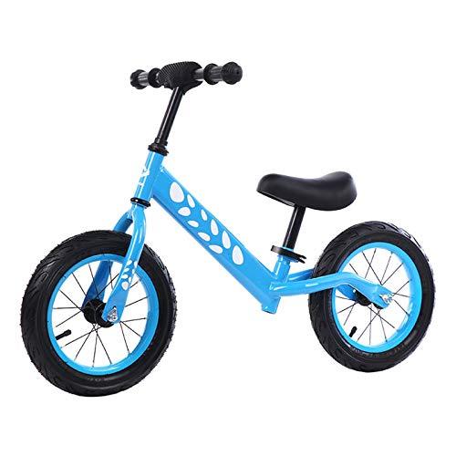 Bicicleta sin Pedales para Niños 2-6 años Mini Bici Bebés Infantil Andadores Bebé Equilibrio (niños, Azul),Blue,12