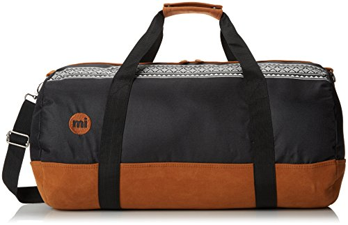 Mi Pac Duffel Bag - Quality Holdall Weekender Travel Bag, Flight Bag or Gym Bag | Water Resistant Fabric with Removable Shoulder Bag Strap for Men & Women - Nordic Black 30L