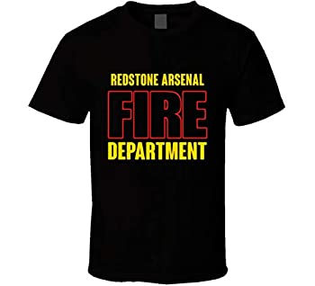 Redstone Arsenal Fire Department Personalized City T Shirt Black