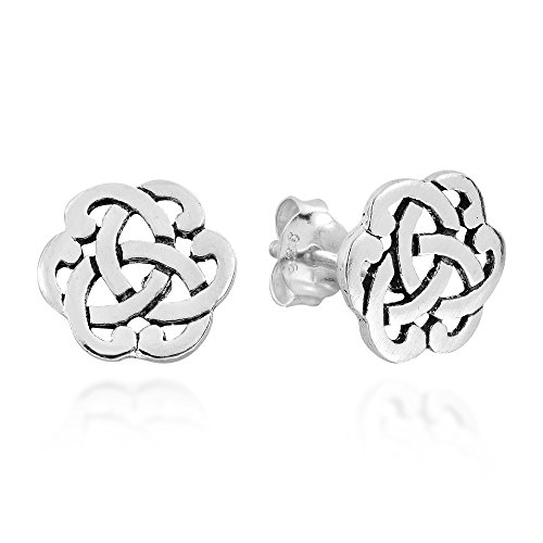 Interlocking Celtic Knot .925 Sterling Silver Stud Earrings