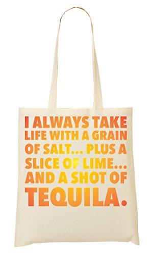 C+P Life Shot Of Tequila Tragetasche Einkaufstasche