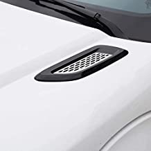 For Land Rover Range Rover Series, ABS Front Hood Vent Louvres Pair SVR style Stick-ons Gloss Black&Silver-Atlas-Mesh