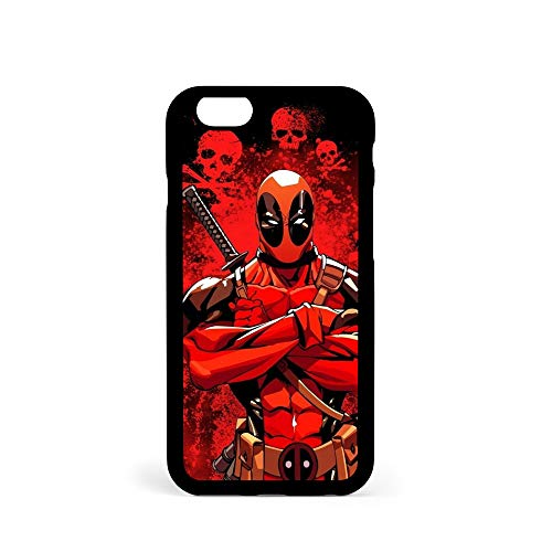( For iPhone 6 Plus / iPhone 6S Plus ) Durable Protective Soft Back Case Phone Cover - A11287 Deadpool Ninja