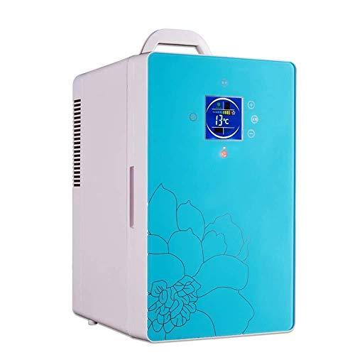 Wangt compacte koeler, 16 l, instelbare temperatuur, koelkast, digitale thermostaat, stil, koelkast-vriezer, voor op kantoor thuis en voor het gebruik van de auto.