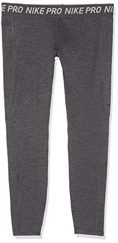 Nike Unisex-Damen W NP WARM TIGHT NEW Netze, Grau/meliert/Schwarz (oil grey/htr/blac), S
