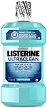 Listerine Ultraclean Oral Care Antiseptic Mouthwash with Everfresh Technology to Help Fight Bad Breath, Gingivitis, Plaque and Tartar, Arctic Mint, 1 l