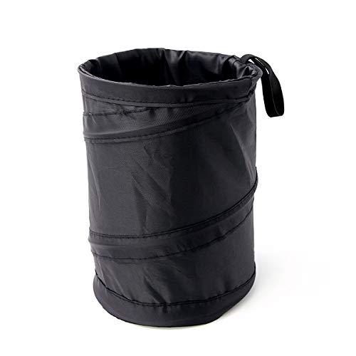 binboll Car Trash Can, Collapsible Leak Proof Trash Can, Car Portable Garbage Bag (Black 1)