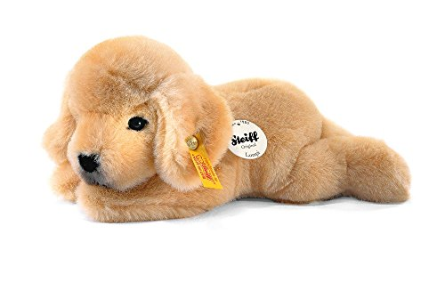 Steiff 280160 Lumpi Golden Retriever Welpe 22 liegend Hund, GOLDBLOND