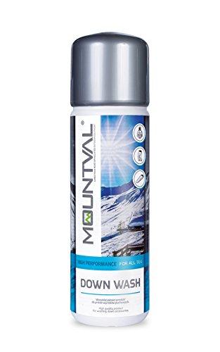 Mountval Daunen-Waschmittel Down Wash Kraftvoller Reiniger für mit Daunen gefüllte Schlafsäcke, Outdoor- & Wanderkleidung | Erhält die Bauschkraft und erfrischt