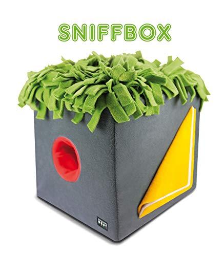 KNAUDER'S BEST Sniffbox 3D Schnüffelrasen Intelligenzspielzeug ca. 30cm x 30cm x 30cm Hunde