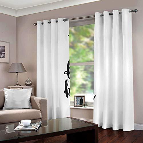 MEKVF Cortina Inglés sobre Blanco 280X250Cm Super Suave Reduce Ruido Aislar Frío Calor Bajo Opacas Impresión Bajo Precio Dormitorios Salones Infantiles 2 Piezas
