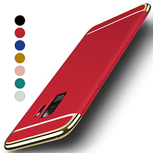 NAISU Galaxy S9 Case, Galaxy S9 Back Cover, Ultra Slim & Rugged Fit Shock Drop Proof Impact Resist Protective Case, 3 in 1 Hard Case for Samsung Galaxy S9 - Red