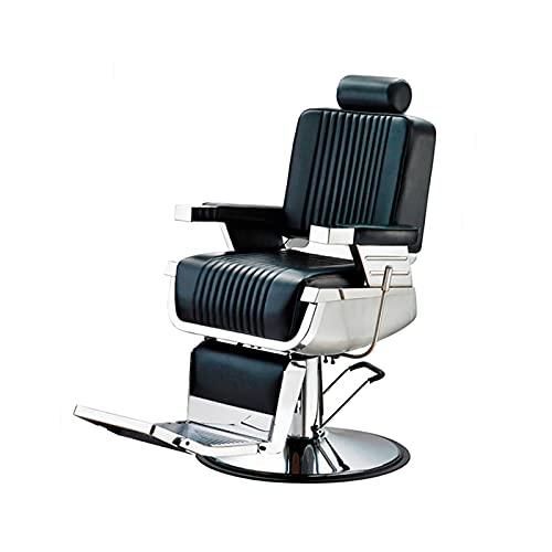 Sillón Barbero hidráulico reclinable y Giratorio con reposabrazos GRT LBH