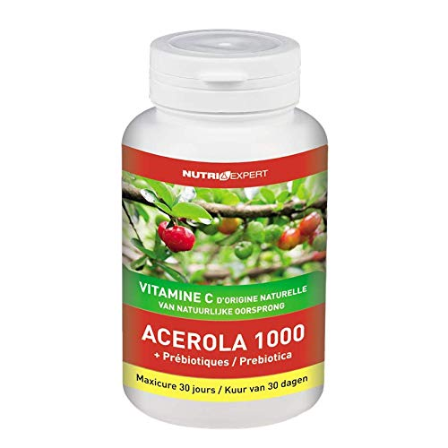 Acerola 1000 Vitamin C of Natural Origin + Prebiotics