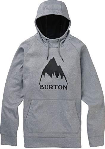 Burton Herren Crown Bonded Pullover Hoodie Sweatshirt, Herren, athletisch, Kapuzenpulli, Crown Bonded Pullover, Grau Heather Neu, Medium