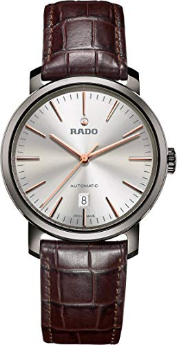 Rado Diamaster R14074106 - Reloj automático para Hombre (Esfera Plateada)