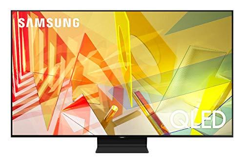 Samsung TV QE65Q90TATXZT Smart TV 65' Serie Q90T QLED, Ultra HD 4K, Wi-Fi, Classe di Efficienza Energetica B, 2020, Silver