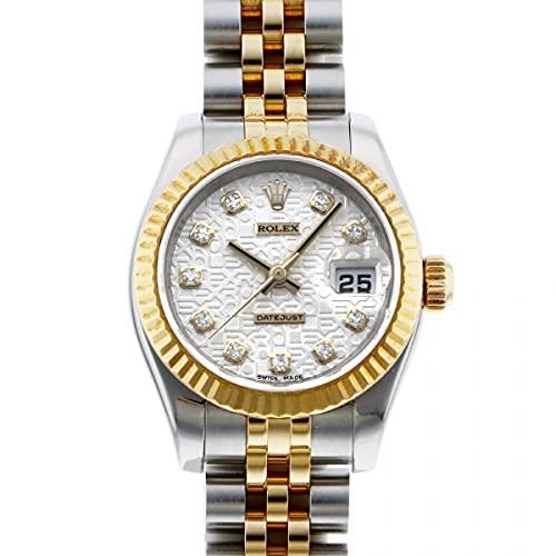 ロレックス ROLEX デイトジャスト 179173G シルバー文字盤 中古 腕時計 レディース (W209601) [並行輸入品]