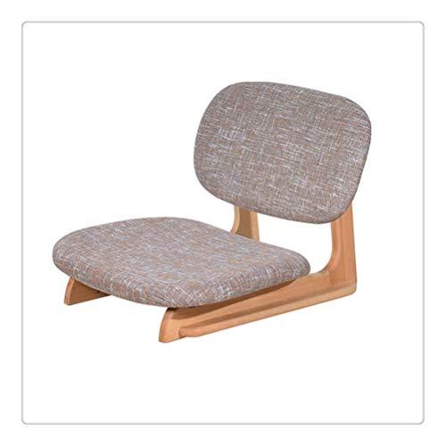 FTW Asiento De Silla De Piso Japonés Fuerte con Respaldo para Sala De Estar, Muebles De Dormitorio, Juegos De Meditación (Color : Gray)