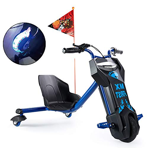 Tres Ruedas Coche Equilibrio Eléctrico para Niños Drift-Trike con Ruedas De PU Flash Material ABS, Apto para Niños De Más De Seis Años De Edad