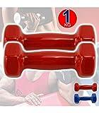 Trade Shop - Coppia di MANUBRI in Vinile da 1KG OGNUNO MANUBRI Pesi Palestra Fitness - 012408