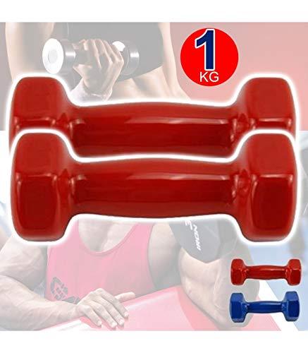 TradeShop - Coppia di MANUBRI in Vinile da 1KG OGNUNO MANUBRI Pesi Palestra Fitness - 012408