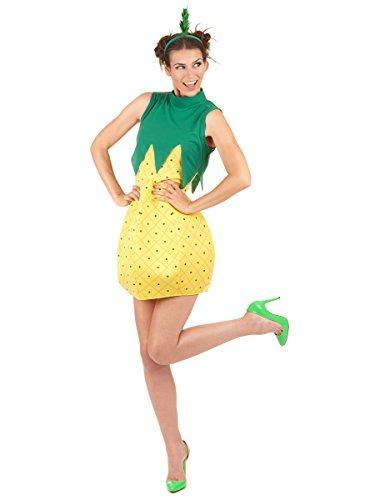 Vegaoo - Disfraz de piña Mujer - Talla única
