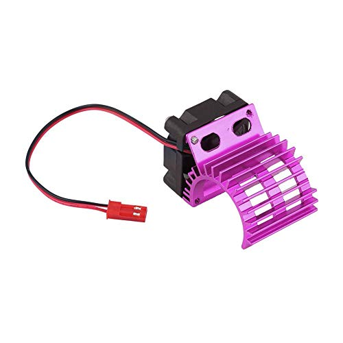 RC Motor Disipador de Calor con Ventilador de Enfriamiento, RC Disipador de Enfriamiento Ventilador para 1/10 Escala Eléctrica RC Car 380/390 Motor Actualizar Parte de Accesorios(púrpura)