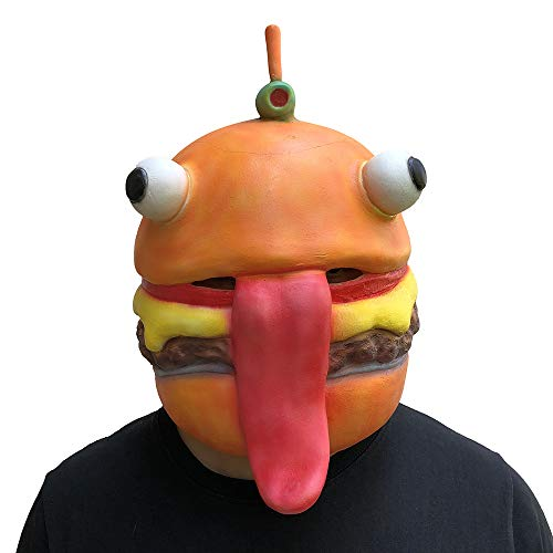MostaShow Beef Boss Mask Cosplay Durr Burger Masks Adult Latex Full Face Helmet Halloween Party Props