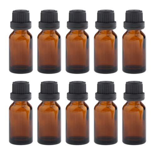 oshhni 10 Piezas 15 Ml Botellas Vacías de Gotas para Los Ojos para Perfume de Suero de Aceite Esencial - 10ml