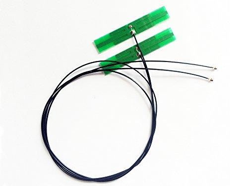 Econlineshop 3dBi デュアルバンド 802.11a/b/g/n/ac対応 WIFI/Wimax/Bluetoothモジュール用アンテナ MHF4 ...